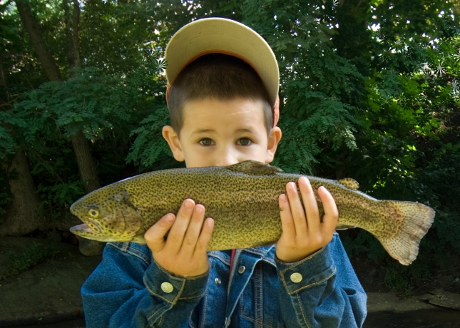 little-boy-with-trout