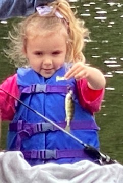 Caitlynn V age 5 first fish of the day