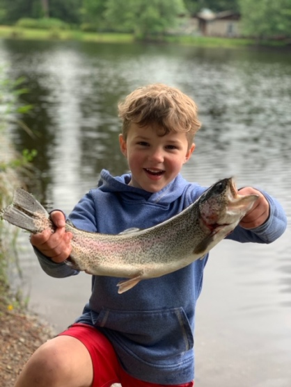 June 2020 C first fish excitement